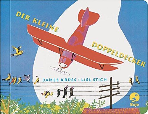 Der kleine Doppeldecker ist nun ein gelber Postflieger. Bilderbuch Klassiker von James Krüss.
